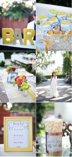 bar ideas from wedding!
