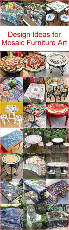 Design Ideas for Mosaic Furniture Art
