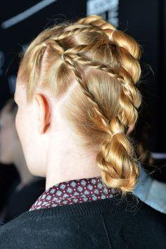 twisty braided bun