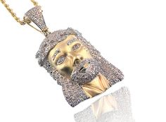 King Johnny - Johnny's Custom Jewelry - 10K Gold 0.60CT Diamonds Jesus Piece, $989.99 (http://www.johnnyscustomjewelry.com/10k-gold-0-60ct-diamonds-jesus-piece/)