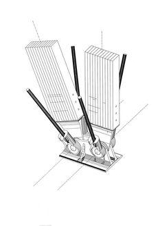 Detalle constructivo - Centro Cultural Jean Marie Tjibaou - Arq. Renzo Piano