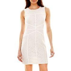 64b843628092 Bisou Bisou® Seamed Lace Dress - jcpenney  40.00 Basketball Dress