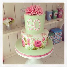 Birthdaycake Cake Roses Freyasfancies A 60th Birthday By Freyas Fancies