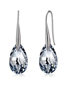 #AdoreWe #VIPme Earrings - CAROMAY Teardrop Crystal Hook Earrings Concise Elegant - AdoreWe.com