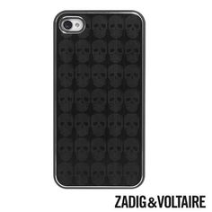 Coque noire Zadig & Voltaire iPhone 4, 4S métal