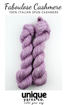 This finest Italian-spun 100% cashmere yarn is beautifully made, beautifully dyed, knits like a dream, and super soft.#uniqueyarnsco #cashmereyarn #cashmerelaceweight