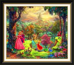 Thomas Kinkade - Sleeping Beauty. I loved the hidden characters in this one.. but that's about it. She didn't even look the same as in the movie