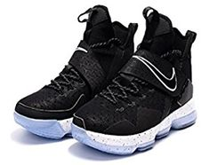 best service ac185 d86b1 Latest Nike LeBron XIV Black White Chase Down Men s Basketball Shoes  Clearance