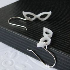Maudes Eyeglasses Earrings in White