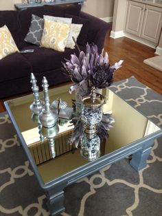 I Can't Stop Looking at My Mirrored Furniture! - I've fallen in LOVE with mirrored furniture, but not so much the price. So, I made my own! See how I transforme… Home Renovation, Bar Cart, Bar Carts