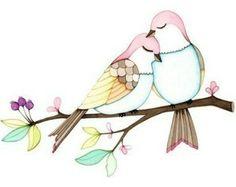 Love birds – Electronic is Charge Creative Poster Design, Creative Posters, Cold Porcelain Flowers, Batik Art, Mini Canvas, Bird Illustration, Mini Paintings, Bird Pictures, Love Birds