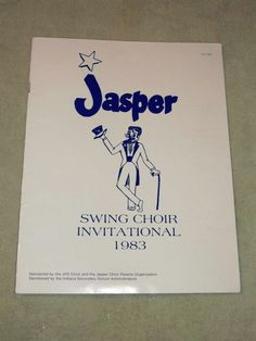 Vintage 1983 Jasper Swing Choir Invitational Program Jasper Indiana IN