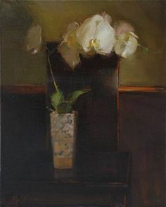 Orchid on Japanese Chair by Olga Krimon by OilPaintersofAmerica on DeviantArt