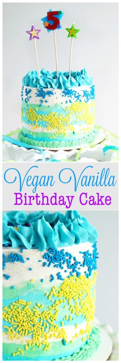 Vegan GlutenFree Funfetti Birthday Cake Recipe Vegan gluten