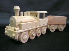 Wooden locomotives. € 38,00 Handmade wooden toy trains for children. We ship orders worldwide. www.soly-toys.com