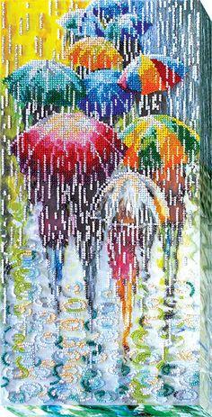 Веселые зонтики AB-434 Small Cross Stitch, Cross Stitch Art, Modern Cross Stitch, Cross Stitching, Cross Stitch Patterns, Embroidery Flowers Pattern, Embroidery Hoop Art, Vintage Embroidery, Beaded Embroidery