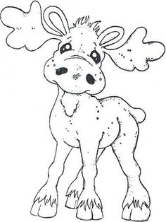 Turning Leaves 2012 - Walter The Moose Christmas Coloring Pages, Coloring Book Pages, Coloring Sheets, Christmas Colors, Christmas Art, Illustration Noel, Christmas Drawing, Christmas Embroidery, Magnolias