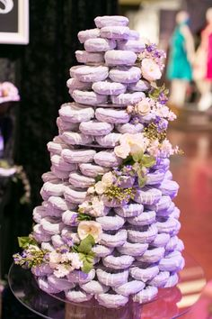 Donut wedding cake Less expensive and no one has to cut and plate