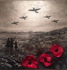'For the Few' by Jacqueline Hurley War Poppy Collection Remembrance painting Spitfires Evacuees Battle of Britain World War Poppy Appeal Remembrance Day Pictures, Remembrance Day Quotes, Remembrance Day Activities, Remembrance Day Poppy, Remembrance Tattoos, Lest We Forget Tattoo, Air Force Tattoo, War Tattoo, Armistice Day