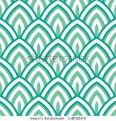 Lotus Petal Scales Seamless Background Pattern