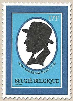 Belgian Stamps 100 Anniversary of birth the writer Abraham Hans.