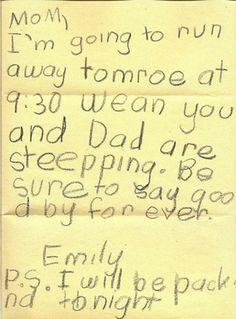 Süße Nachrichten und Antworten von Kindern