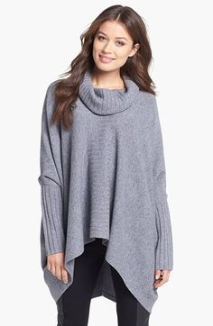 Nordstrom Collection Cashmere Poncho Sweater available at #Nordstrom