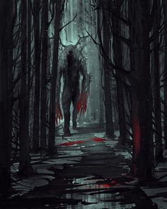 D&D creepy monsters character art, fantasy forest, forest art, dark fantasy Dark Fantasy Art, Fantasy Artwork, Fantasy Kunst, Dark Art, Fantasy Forest, Forest Art, Tree Forest, Arte Horror, Horror Art