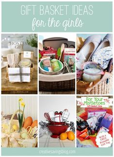 From hostess gifts, to spa and relaxation packages, you will love these creative gift basket ideas for her! These are also great Mothers Day gift ideas too!