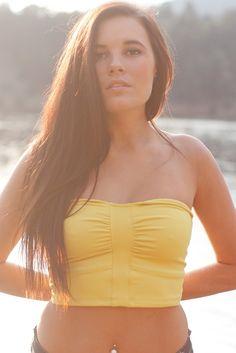 Skyla Bandeau Top - SALE - Designed for layering, hot yoga, bikram yoga and Swim - Mika Yoga Wear Tops