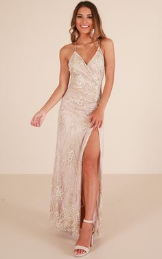 22e8f1f7ee At A Crossroad Maxi Dress In Gold Produced. Prom Party DressesOccasion ...