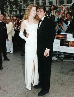 Former flame: Tom Cruise and wife Nicole, pictured at the London premiere of 1992 film Far and Away, in which they co-starred together, parted after 11 years of marriage