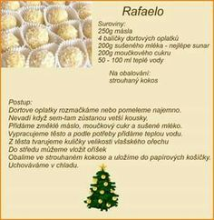 Christmas Baking, Christmas Cookies, Czech Recipes, No Bake Cake, Sweet Recipes, Ale, Vegetarian Recipes, Food And Drink, Yummy Food