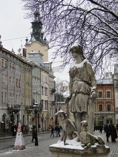 Lviv, Ukraine. Is that a statue of Diana?