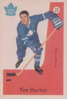 Tim Horton's Toronto Maple Leaf's hockey card.