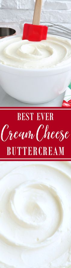 Best Ever Cream Cheese Buttercream ~ Buttery-rich yet light and fluffy with a slight tang from the cream cheese and not overly sweet, this cream cheese buttercream frosting stands far above the rest and pipes beautifully. Quite simply the Best Ever Cream Cheese Buttercream! | easy cake filling frosting recipe