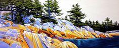 Channel Phillip Edward Island, oil on canvas, x Margarethe Vanderpas Oil Painting Pictures, Acrylic Painting Lessons, Pictures To Paint, Acrylic Art, Painting Techniques, Landscape Drawings, Landscape Pictures, Landscape Art, Landscapes