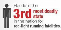Florida is the 3rd most deadly state in the nation for red-light running fatalities.