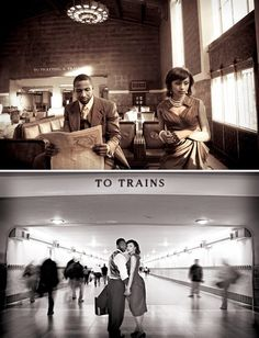 one inside the train station @Tiffany Jen Quotes About Photography, Couple Photography, Wedding Photography, Photography Ideas, Engagement Pictures, Engagement Session, Engagement Ideas, Old Hollywood Wedding, Wedding Inspiration