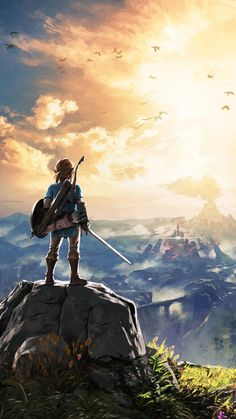 Promotional art for the latest entry in the Zelda series Breath of the Wild. A massive and magnificent game that broke many of the traditional Zelda barriers. The Legend Of Zelda, Legend Of Zelda Tattoos, Legend Of Zelda Memes, Legend Of Zelda Breath, Madara Wallpapers, Animes Wallpapers, Image Zelda, Instagram Png, Ocean Wave
