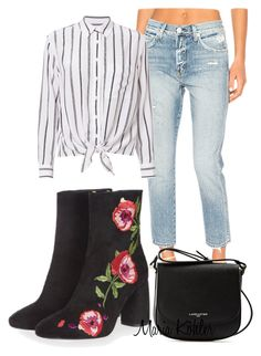 """Inspiration of the day: Embroided boots"" by mariakohler-imageconsulting on Polyvore featuring AMO, Lancaster, Topshop and Equipment"