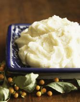 Garlic Parmesan Mashed Potatoes - I added about twice as much parmesan