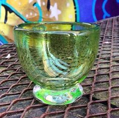 A personal favorite from my Etsy shop https://www.etsy.com/ca/listing/263457237/glass-art-one-of-a-kind-lime-green-glass