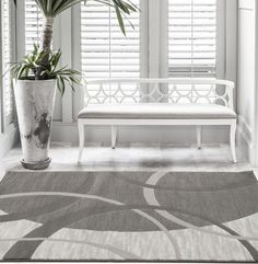 Gray Geometric Contemporary Affordable Area Rugs 5x8 8x11 - Bargain Area Rugs