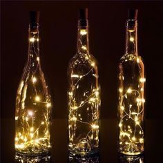 20 Warm White LED Cork Wine Bottle Lamp Fairy String Light Stopper, 40-Inch on Sale Now! We offer vintage and unique LED candles, table decorations, wedding decor and lighting supplies in Bulk at Wholesale Prices.