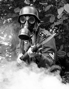 German WW II gas mask