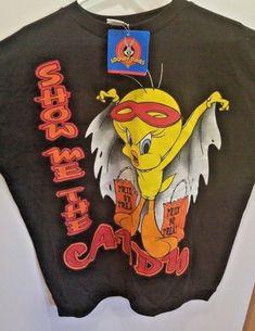 aae0d019c72385 Halloween Sweatshirt Looney Tunes Womens Mens Black18 20 NWT 1997 Vintage   LooneyTunes  Crew Halloween
