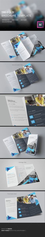Tri-fold Brochure Template InDesign INDD. Download here: http://graphicriver.net/item/trifold-brochure-/15234474?ref=ksioks