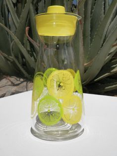 Retro Pyrex Pitcher With Lid Lemons and by DesertBlossomVintage, $10.00