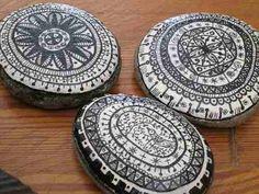 Piedras Pintadas A Mano -decoración